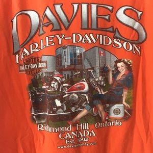 🇨🇦 Harley Davidson Canadian T-shirt Mens Size L